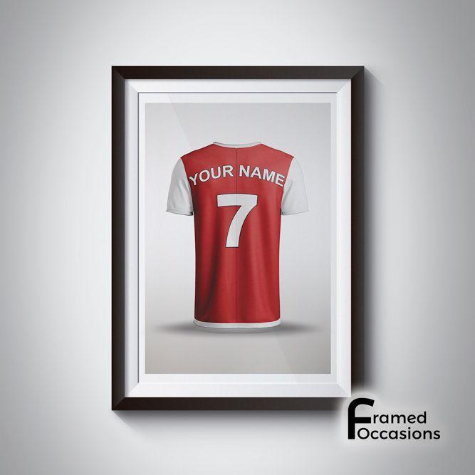 Personalised Arsenal Football Shirt Print