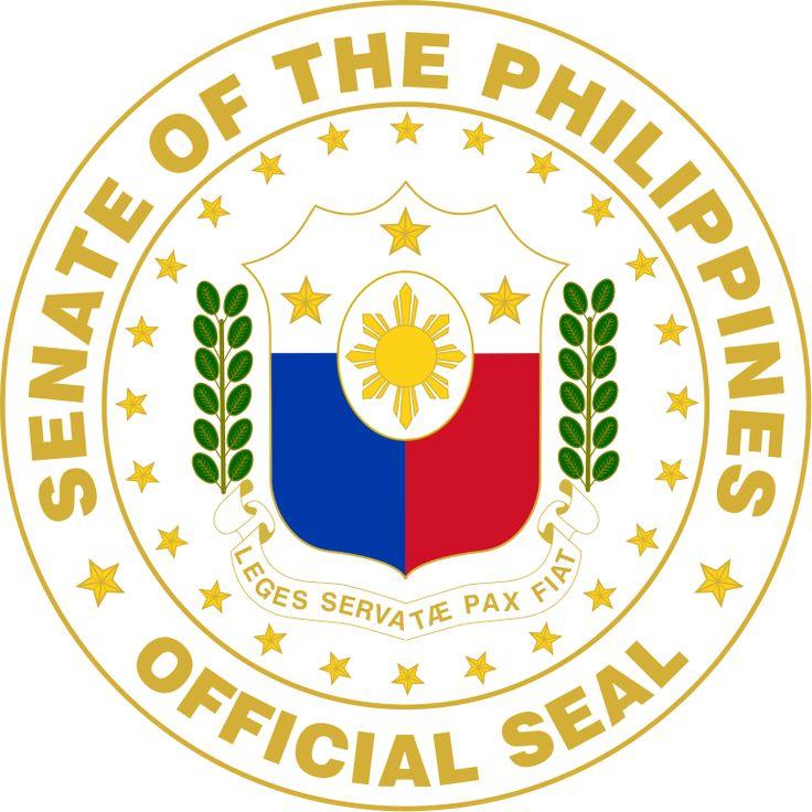 Brasão do Senado da Filipinas. Seal of the Senate of the Philippines.