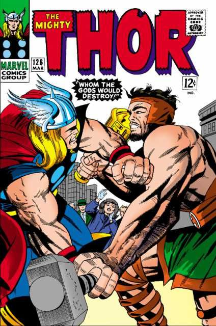 "Thor vs. Absorbing Man, not wild about the villain's name, ""Absorbing Man,"" but a great character - well done Marvel."