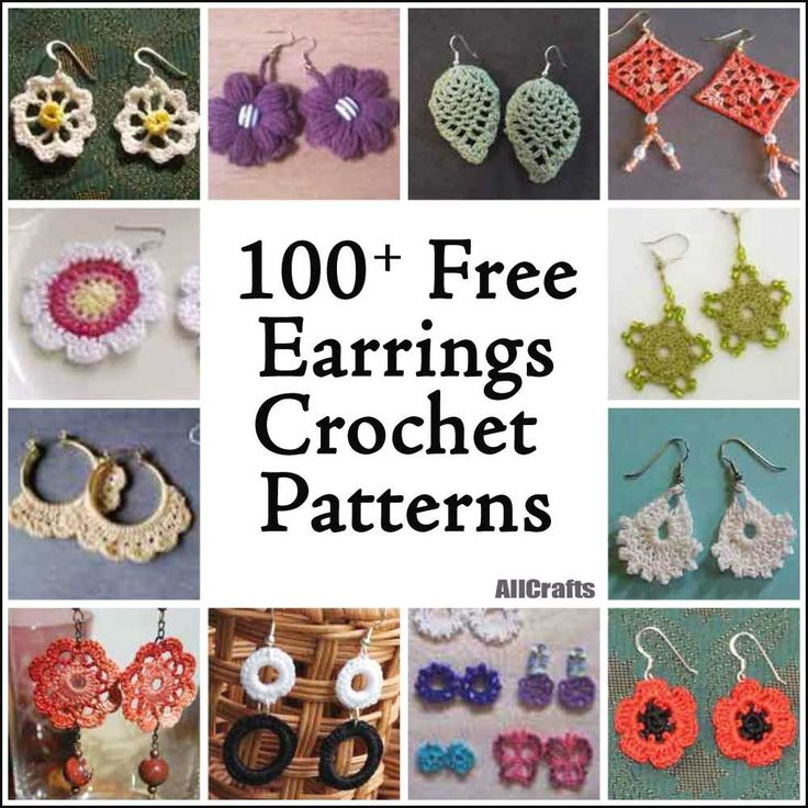 Make yourself something pretty from our new collection of 100+ Free Crochet Earrings Patterns.  It's great to finish a quick project and use leftover yarn to boot!