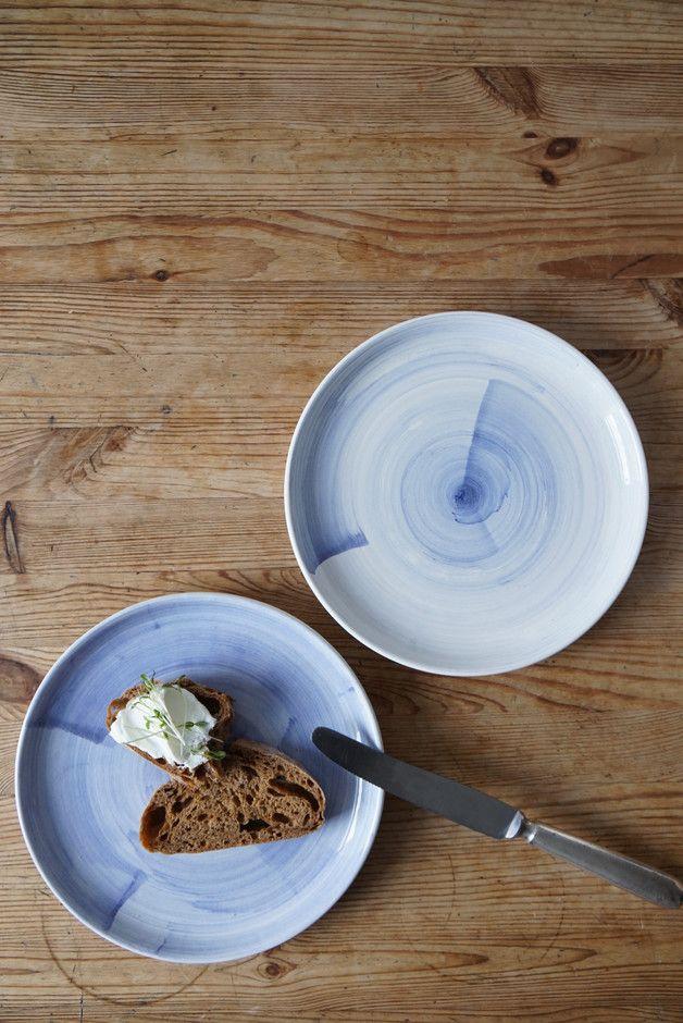 Blaue Teller, Geschirr, Küchenaccessoire / blue plates, dishes made by Kobalt via DaWanda.com