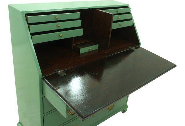 Antique Slant-Lid Secretary Desk