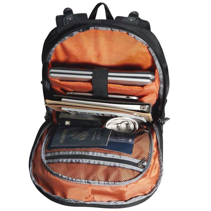 가방은 넓은 공간과 다기능 구성이 필수적 입니다. 마우스, 배터리, 출전기, 케이블, 작은 소품들을 가지고 있으며 테블릿을 문서나 주변장치, 알세서리와 분리하여 수납하기 편리합니다