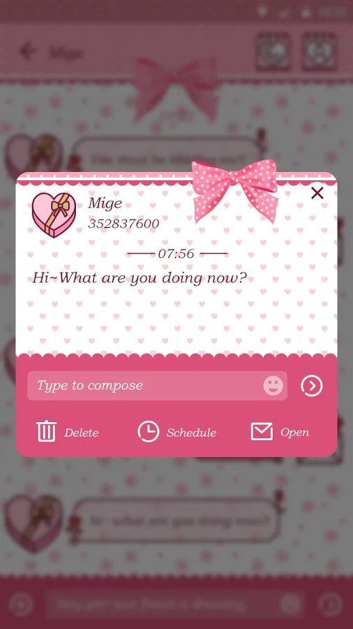 GO SMS PRO HELLO THEME- screenshot