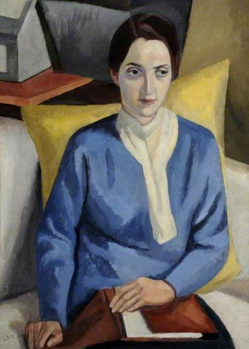 The Student by Nina Hamnett. Ferens Art Gallery.     Date painted: 1917     Oil on canvas, 80 x 58 cm     Collection: Ferens Art Gallery.