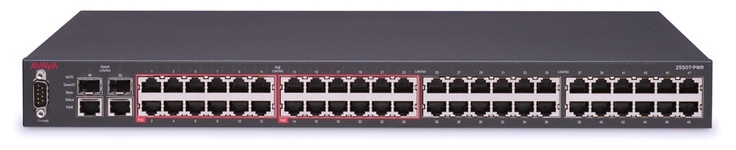 50-port network switch --   A network switch or switching hub is a computer networking device that connects network segments or network devices. Commonly refers to a multi-port network bridge that processes and routes data at the data link layer (layer 2) of the OSI model. Switches that additionally process data at the network layer (layer 3) and above are often referred to as layer-3 switches or multilayer switches.   http://en.wikipedia.org/wiki/Networking_switch