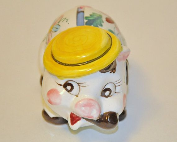 Vintage China Piggy Bank by StarfishCollectibles on Etsy, $10.00