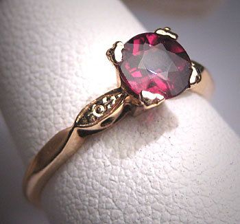Antique Rhodolite Garnet Wedding Ring Vintage by AawsombleiJewelry, $695.00
