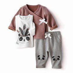 Conjunto com 3 peças, casaco, camisola e calças estilo fato de treino R baby - Bebé menina