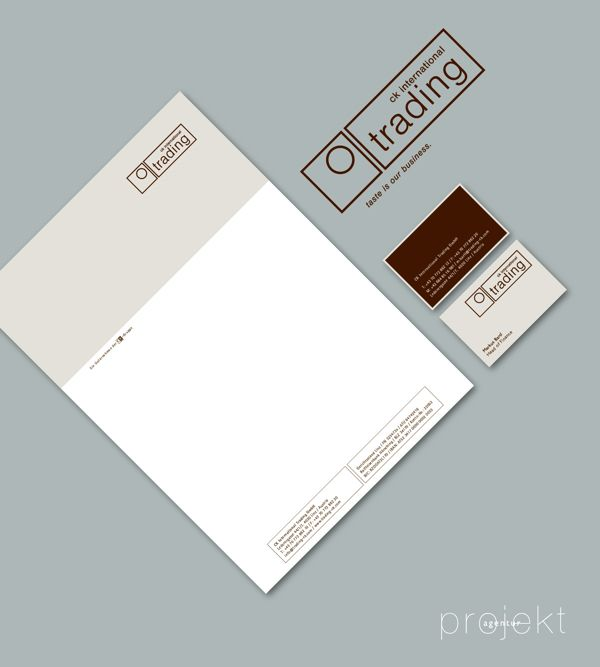 Agency: Projektagentur Weixelbaumer, Linz, Austria, Client: CK International Trading GmbH, Project: corporate design