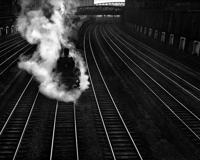 "blackpicture: ""René Groebli Untitled. From the Rail Magic series. (1949) """
