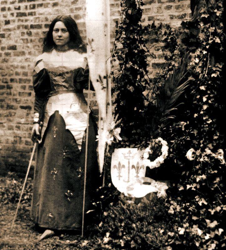 St. #Thérèse de #Lisieux playing #Joan of #Arc in the convent pageant. Saint…