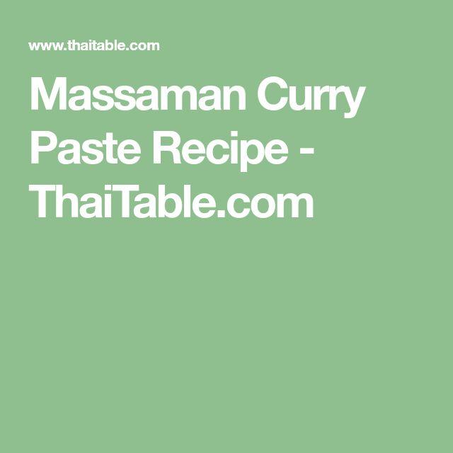 Massaman Curry Paste Recipe - ThaiTable.com