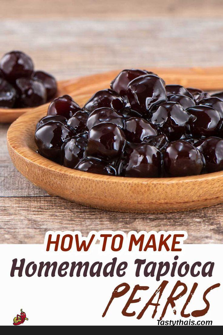 How To Make Boba At Home Brown Sugar Boba Recipe For Bubble Tea Recipe Fun Baking Recipes Boba Recipe Easy Delicious Recipes