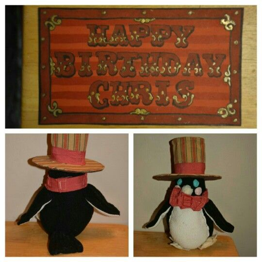Dapper carnival penguin for my brothers birthday