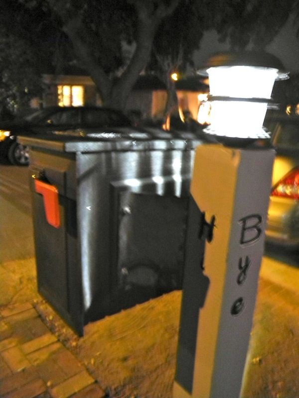 17 best images about mailbox ideas on pinterest mailbox Solar Lighted Mailbox Street Number Solar Address Mailbox