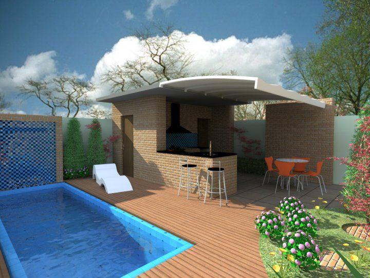 vi este diseño de exterior en Palombo Arq. espacios pequeños me gusto la distribución.