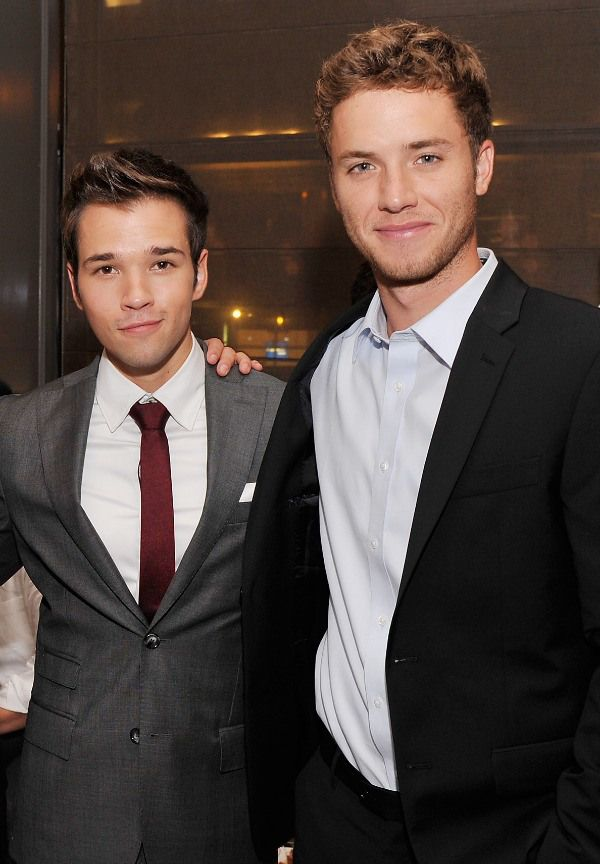 Nathan Kress and Jeremy Sumpter. oh my gosh two in one!!