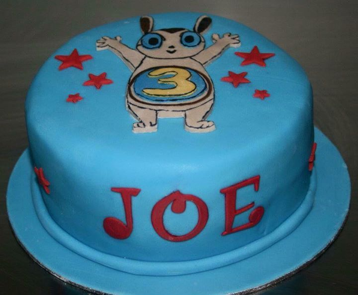 Joe's CBeebies Numtum number 3 birthday cake.