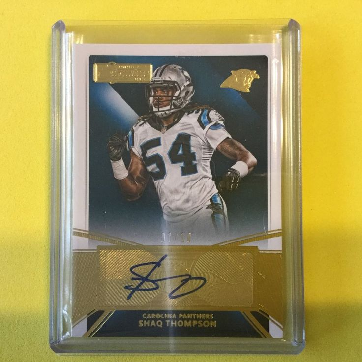 2015 Donruss Signatures Gold Auto 1/10 SHAQ THOMPSON RC - Panthers #CarolinaPanthers