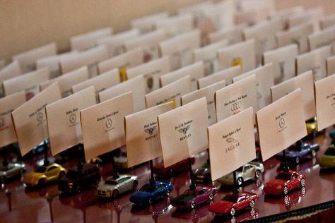 Car themed wedding