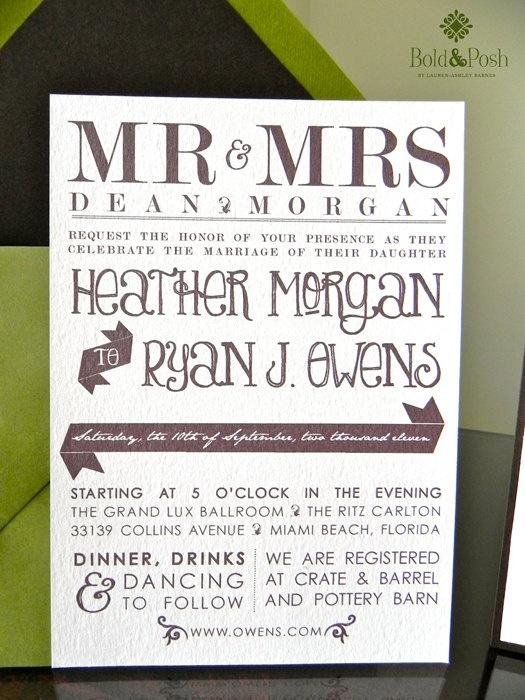 Moss Custom Wedding Stationery Set