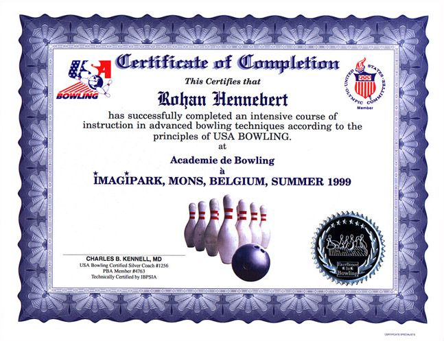 Bowling Certificates | bowling custom certificates largest selection of bowling sculpture ...