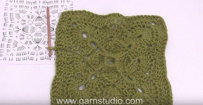 Una mattonella a uncinetto originale per una coperta ma si può anche usare per un bel poncho o una sciarpa avvolgente. C'è lo schema e il video tut...