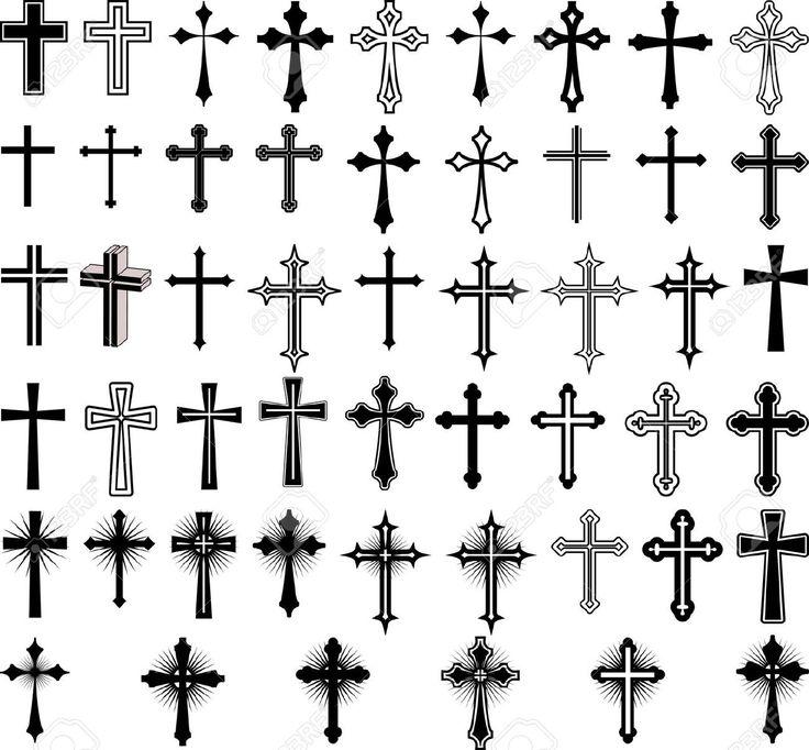 Clip De Ilustración Del Arte De Las Cruces Ilustraciones Vectoriales, Clip Art Vectorizado Libre De Derechos. Pic 13691066.