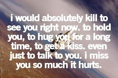 More Than Sayings: I miss you so much it hurts.