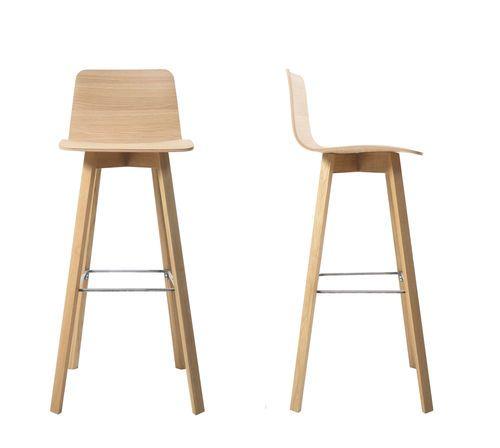 Chaise de bar contemporaine en bois MAVERICK Kff. Design