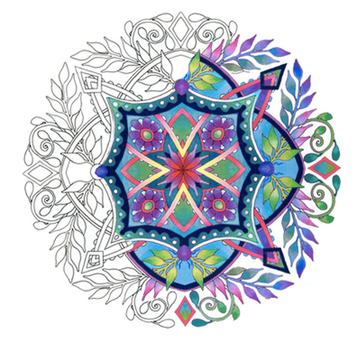 Flora Mandalas Coloring Pages For Adults By Emerlyearts On Etsy