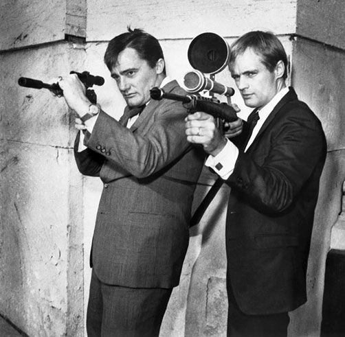 Robert Vaughn and David McCallum as Napoleon Solo and Illya Kuryakin in The Man from U.N.C.L.E.