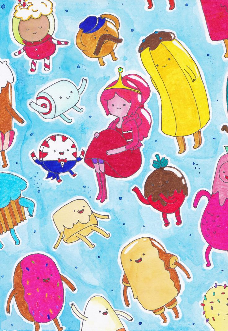 Princess bubblegum and candy people