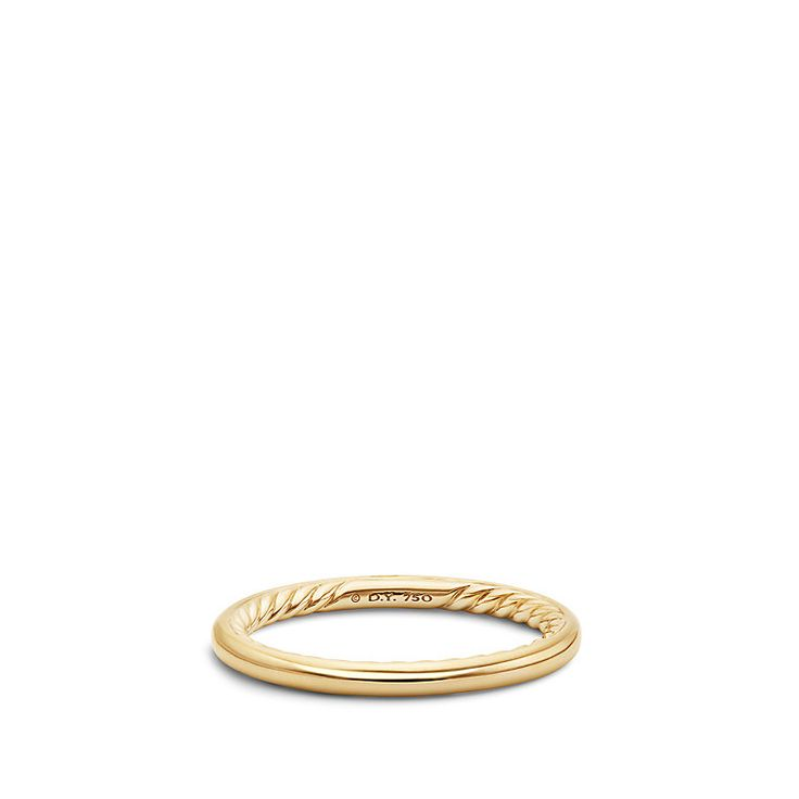 DY Eden Band in 18K Gold 2mm
