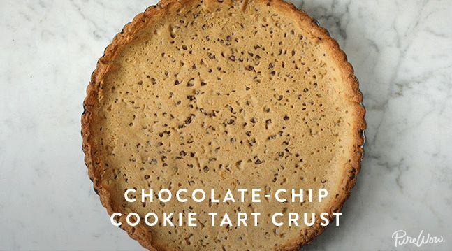 Chocolate-Chip Cookie Tart Crust via @PureWow