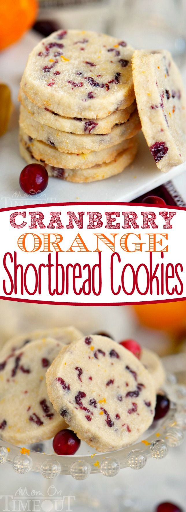 A delightfully easy cookie recipe that yields sensational results! I'm sharing three secrets to the perfect shortbread cookies that no one can resist! Make sure to add these easy Cranberry Orange Shortbread Cookies to your holiday baking list this season! // Mom On Timeout