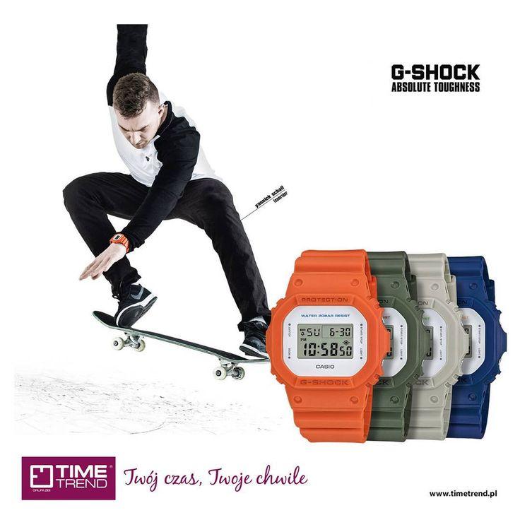 Kultowy model G-Shock DW-5600M. Sprawdź inne kolory na bit.ly/dw5600m  www.timetrend.pl  #gshock #streetwear #moda #styl #skate #zegarek #zegarki #casio #dw5600m #dw5600 #skateboarder #timetrend