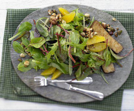 Rezept: Salat mit Karamellnüssen