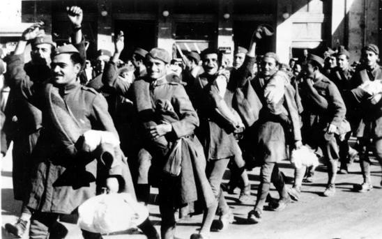 Soldiers in Greece. Date: October 28, 1940