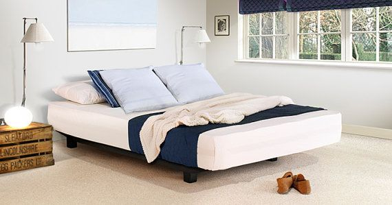Floating Platform Wooden Bed Frame by Get Laid Beds by GetLaidBeds