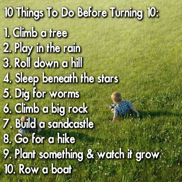 Things to do before turning 10