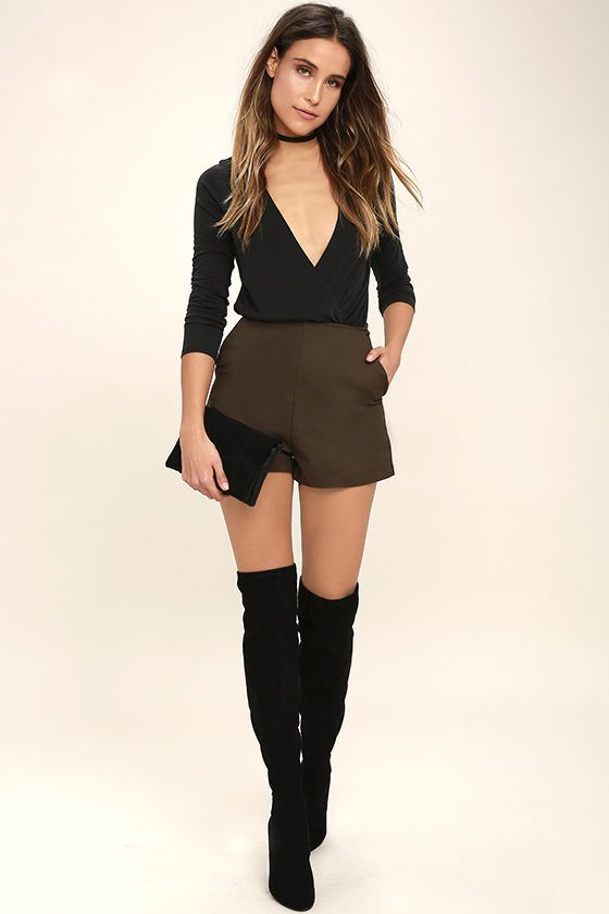 Let your unique beauty shine in the Striking Looks Washed Black Long Sleeve Bodysuit! Jersey knit drapes into a plunging surplice bodice (with back keyhole and top button), and fitted long sleeves. Elasticized waist introduces thong bottoms with two hook and eye closures.