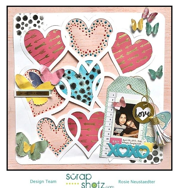 Welcome here again for more kit projects created with the Scrap Shotz April 2017 kit .      I designed and cut this heart die cut with my Si...