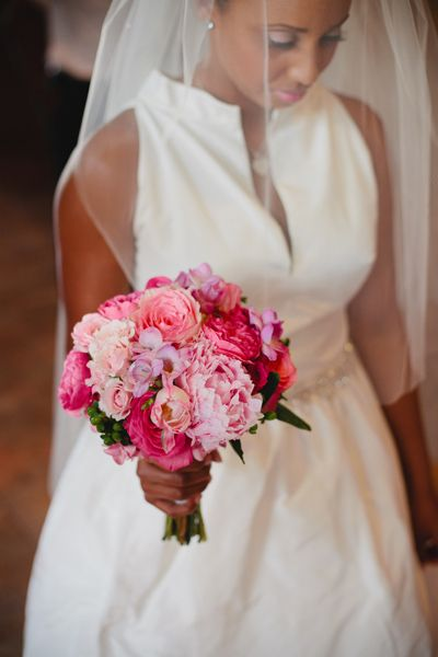 Beautiful floral bouquet!   Gown – Purchased at B. Hughes   Florist – Brocade Design Arts