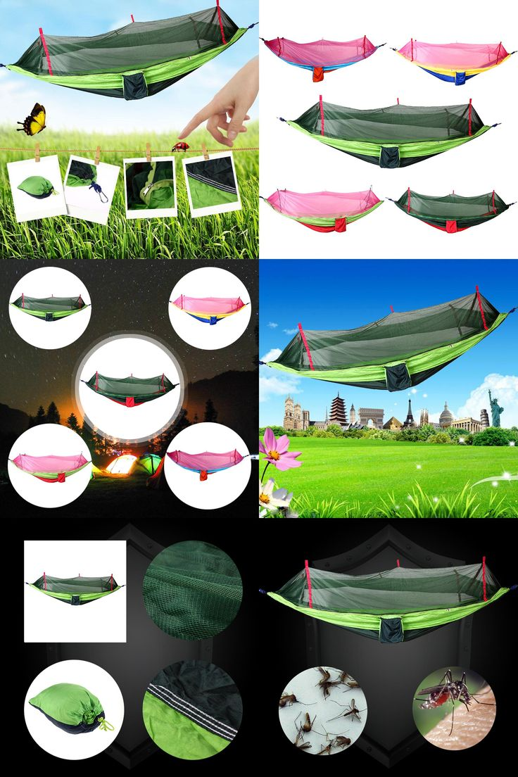 [Visit to Buy] 2017 Outdoor Hammock Multicolor Single Person Portable Hammocks with Mosquito Net for Outdoor Camping Hiking Sports Tools #Advertisement