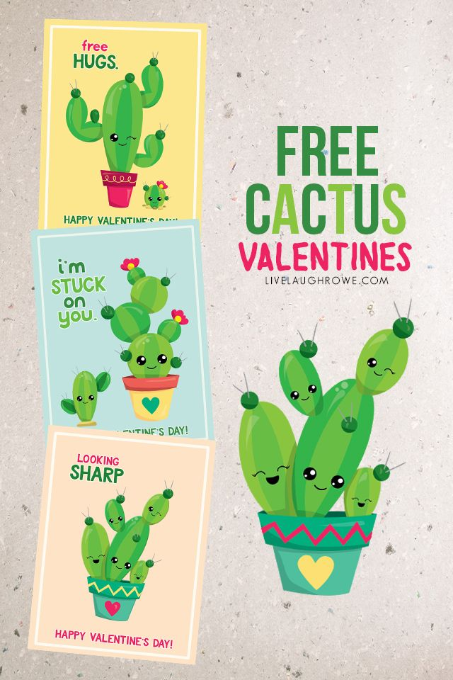 Cactus Valentines and Free Hugs!
