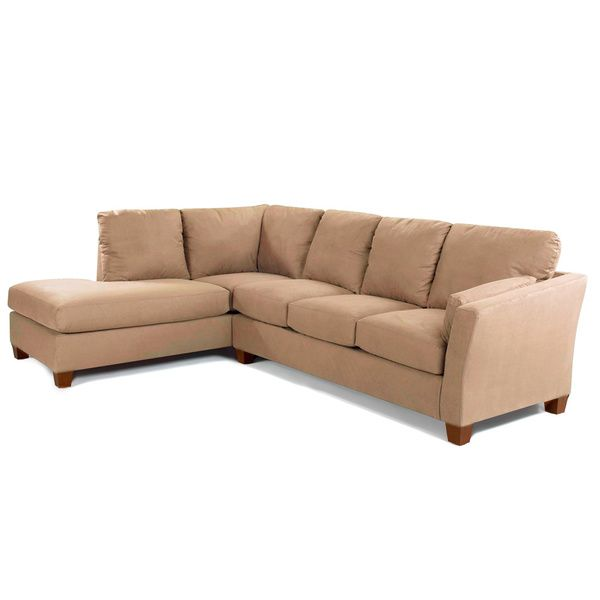 Made to Order Purelife Drake Left Arm Tan Sofa Sectional with Chaise