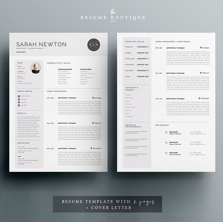 13 best Resumes images on Pinterest Resume, Curriculum and Cv - pages templates resume