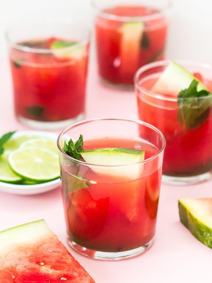 Spiked Watermelon Mint Agua Fresca Punch